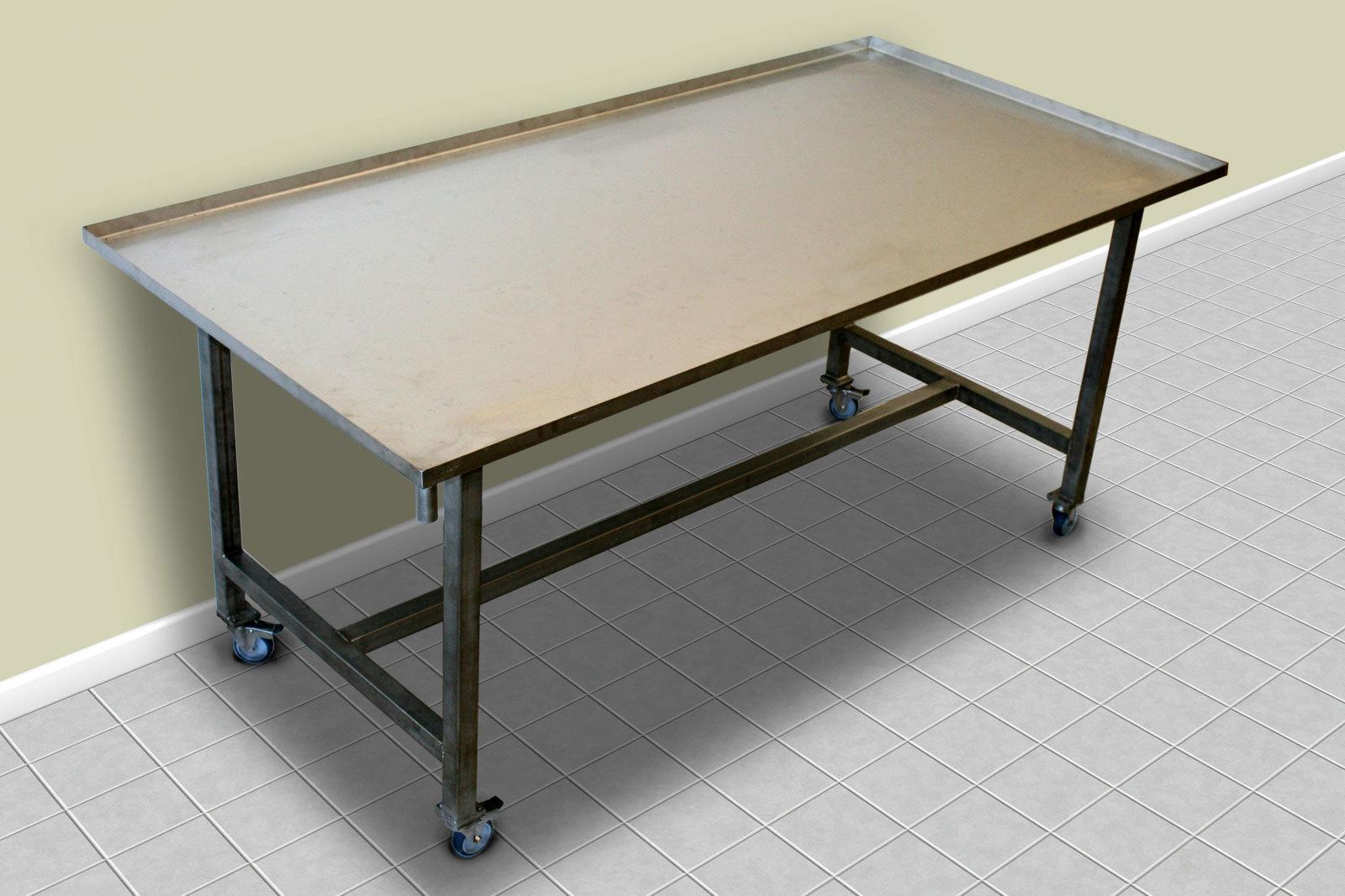 edelstahl ablauftisch k sereibedarf leidinger. Black Bedroom Furniture Sets. Home Design Ideas